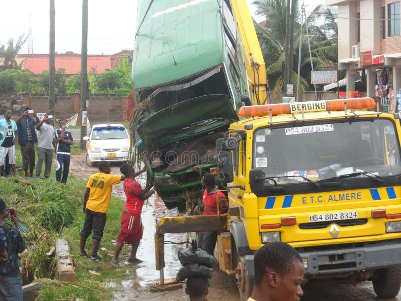 June 3rd flooding, Accra, Ghana. GREDA ESTATE accra royalty free stock photos