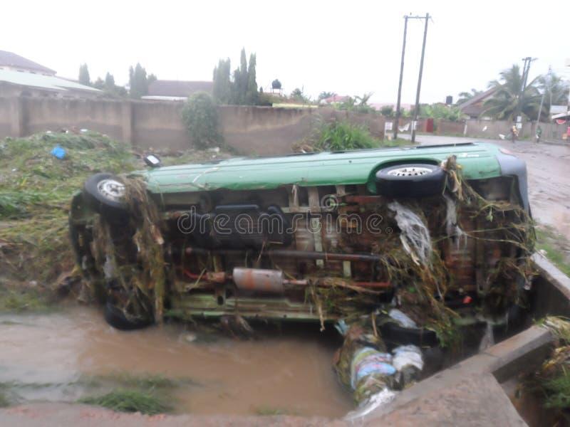 June 3rd flooding, Accra, Ghana royalty free stock photo