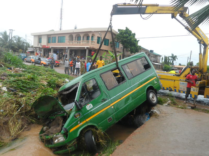 June 3rd flooding, Accra, Ghana stock photo