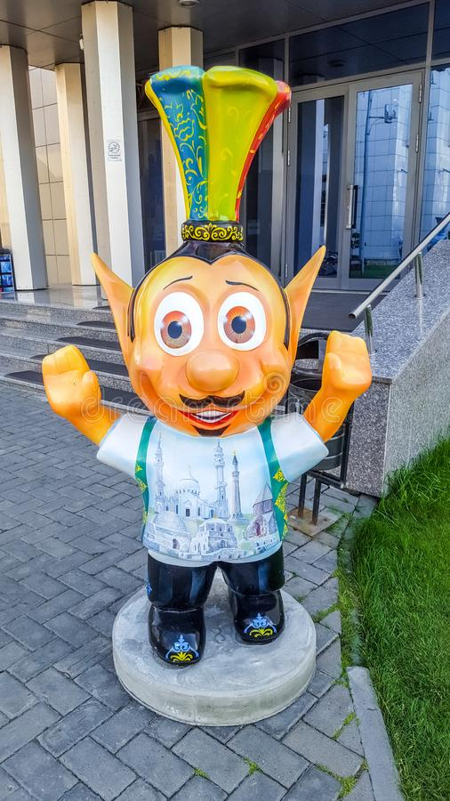 June 2019, Russian Federation, Tatarstan, Kazan. Funny creatures near the hotel `Riviera` - a popular hotel in Kazan. With its own water Park and entertainment stock photos