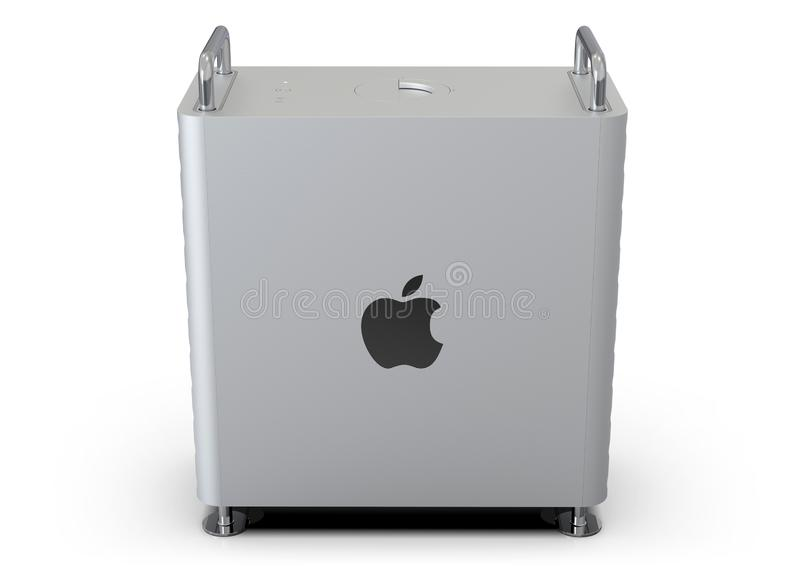 Apple Mac Pro 2019 desktop computer, lateral. June 3, 2019 - San Jose Convention Center, California: Apple Special Event WWDC Keynote. nApple Mac Pro 2019 vector illustration