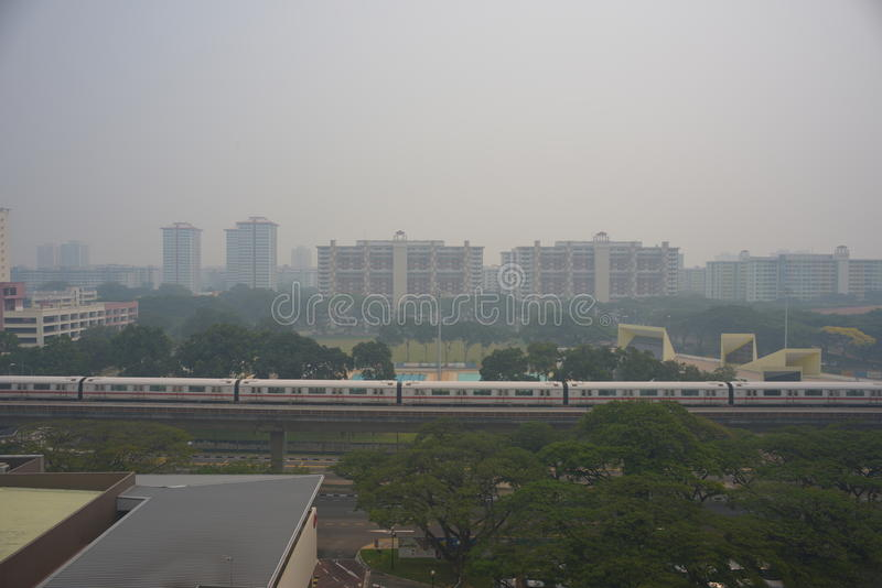Download 21 June 2013, Singapore, Haze Over Singapore Residential Editorial Image - Image: 31737730