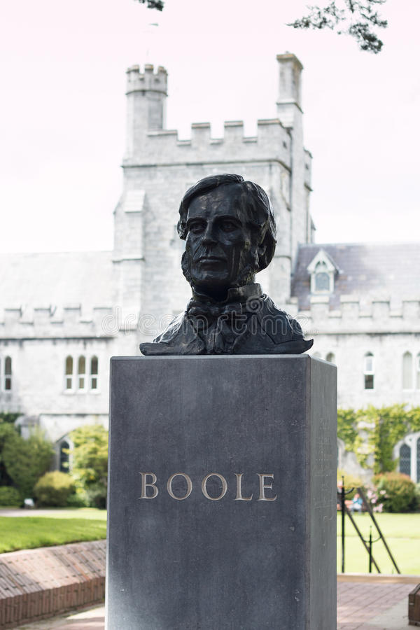June 6th, 2017, Cork, Ireland - Cork College University, bust of George Boole royalty free stock photos
