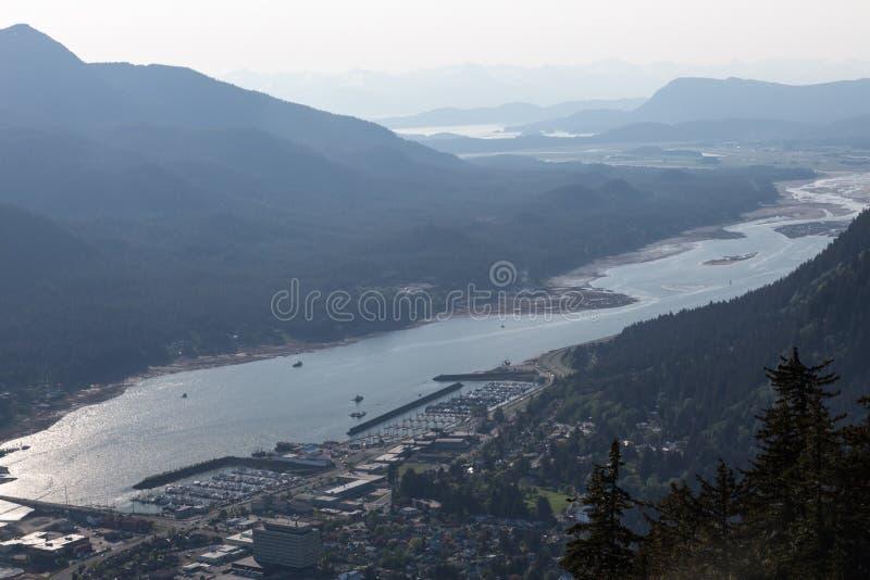 Juneau et la Manche de Gastineau images libres de droits