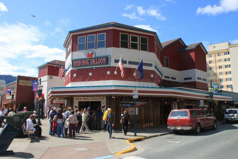 Juneau van de binnenstad stock foto