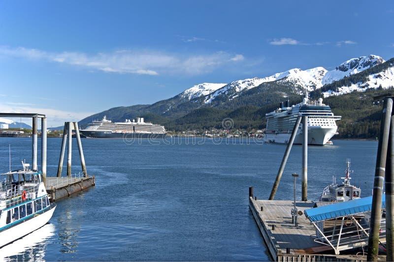 Juneauhaven stock foto's