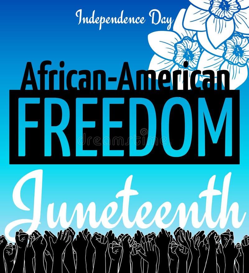 Juneteenth,非裔美国人美国独立日, 6月19日 天自由和解放 皇族释放例证