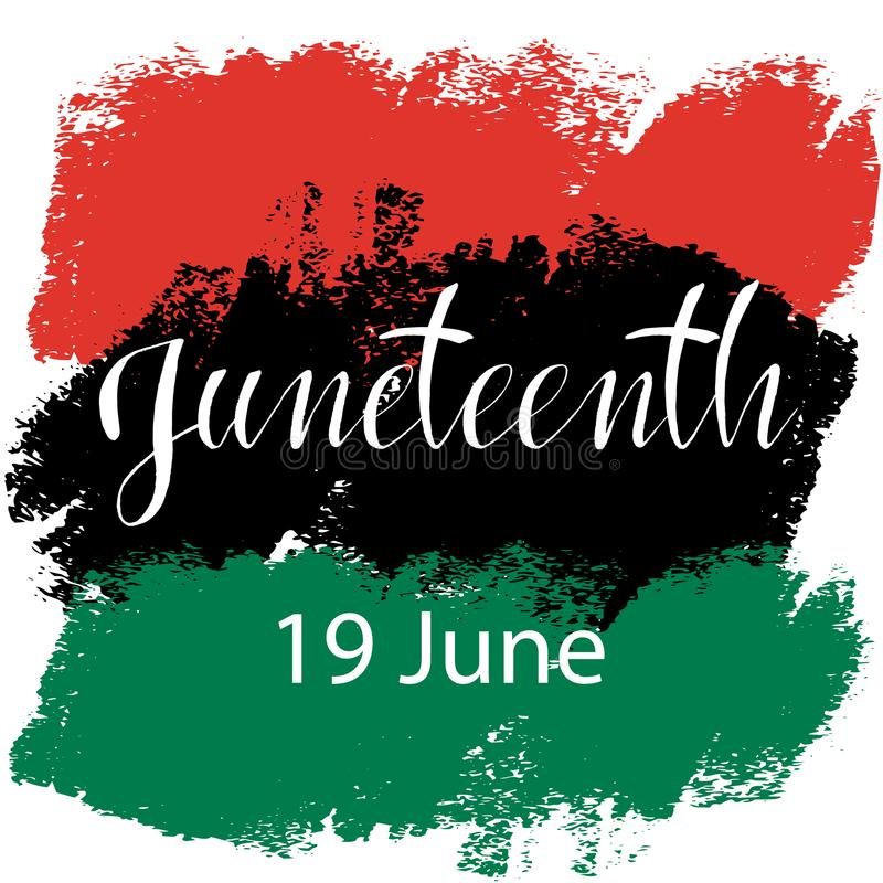 Juneteenth, viert Vrijheid stock illustratie