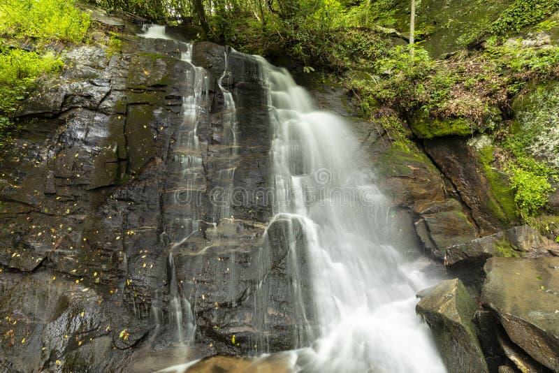 Juney Whank Falls Waterfall fotografering för bildbyråer