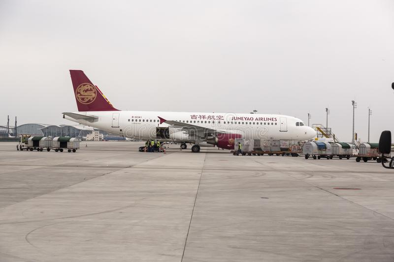 Juneyao Airlines , China stock image