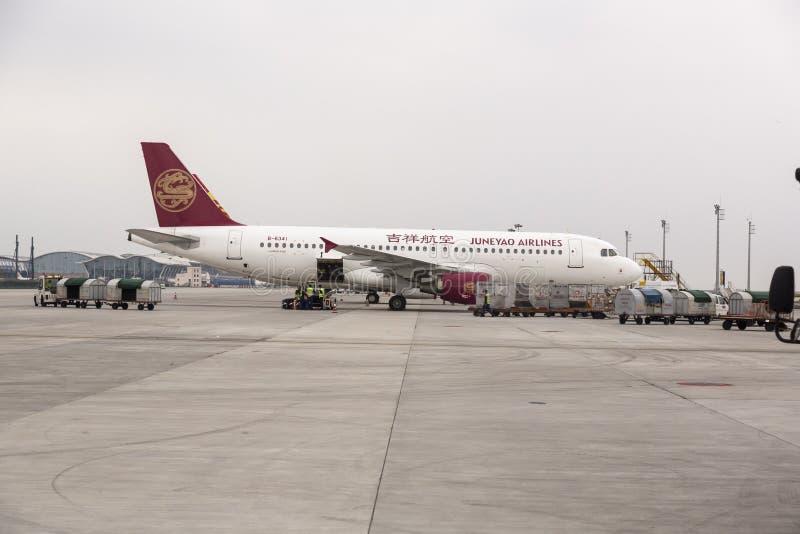 Juneyao linie lotnicze, Chiny obraz stock