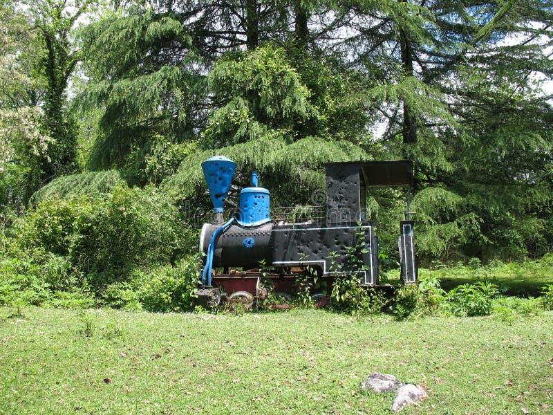 Jung locomotor alemán anterior Abjasia imagen de archivo