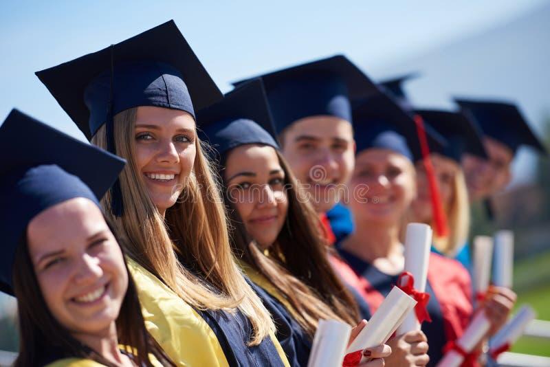JungakademikerStudentengruppe lizenzfreie stockfotos