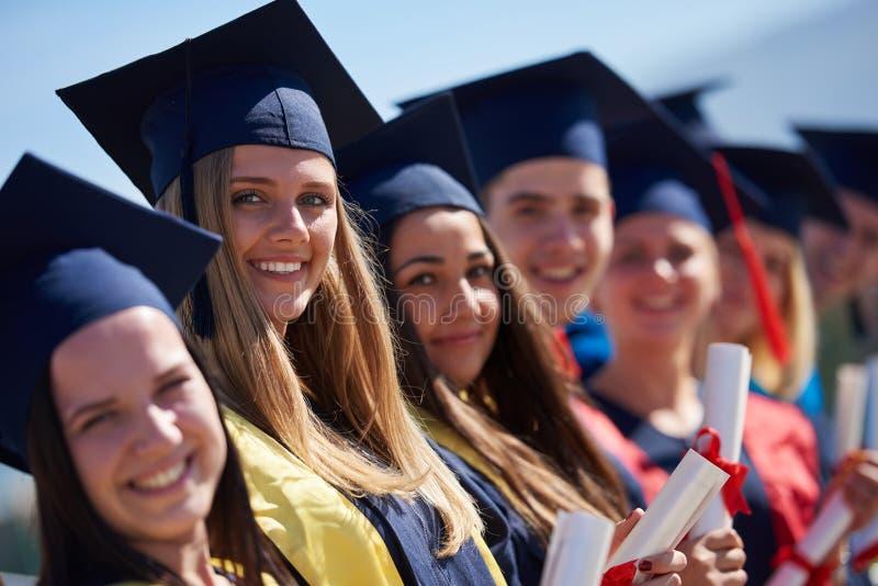JungakademikerStudentengruppe stockfotografie