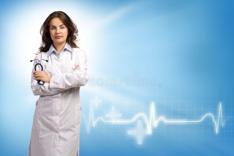 Junge Ärztin stockbild