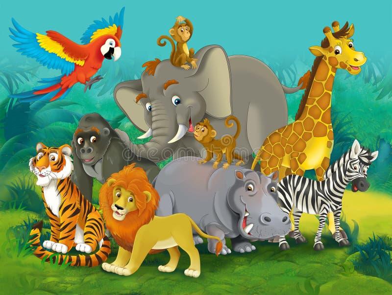 Junge шаржа - иллюстрация для детей бесплатная иллюстрация