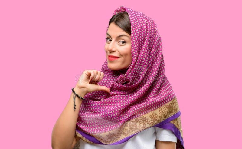 Junge arabische Frau lizenzfreies stockbild