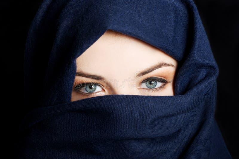 Junge arabische Frau stockbild