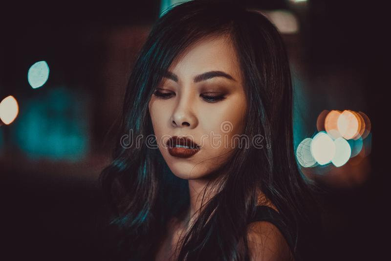 Junge asiatische Frau stockbilder
