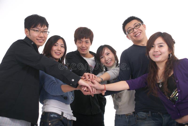 Junge asiatische Gruppe lizenzfreie stockbilder
