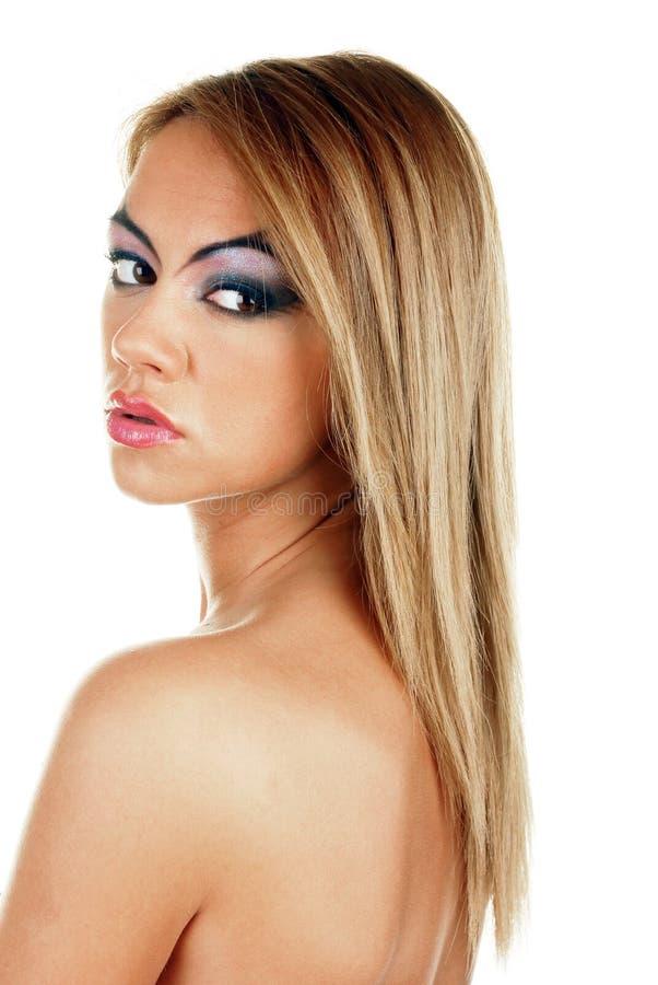 Junge attraktive weibliche Schönheit stockbilder