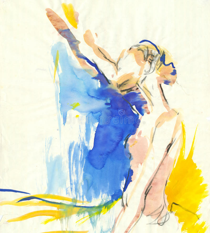 Junge Ballerina lizenzfreie abbildung
