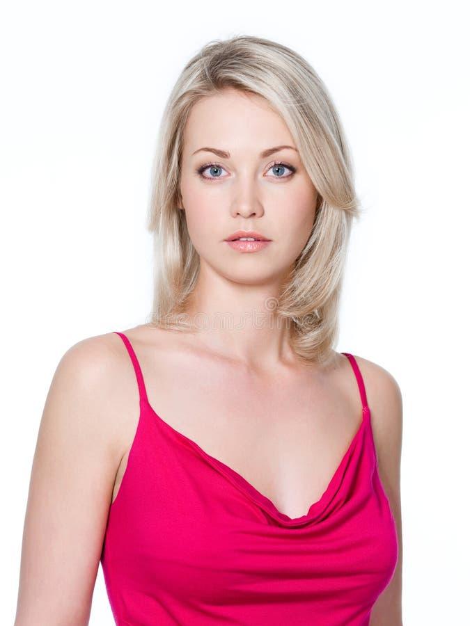 Junge blonde Frau lizenzfreie stockbilder