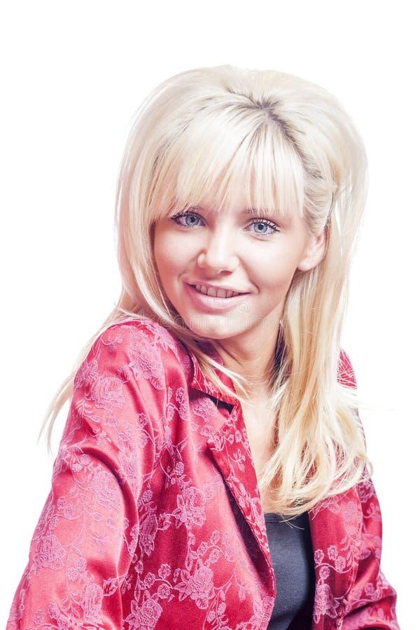 Junge blonde Frau stockbild