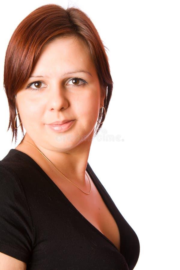 Junge Brunettefrau stockfoto