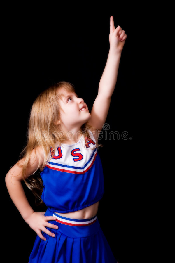 Junge Cheerleader lizenzfreies stockbild