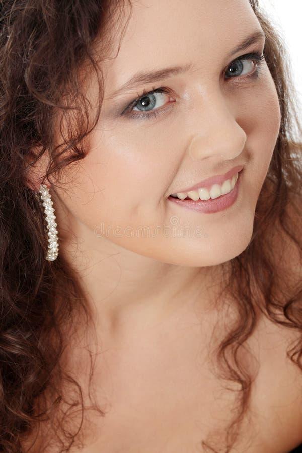 Junge corpulent Frau in elegantem bilden. lizenzfreie stockbilder