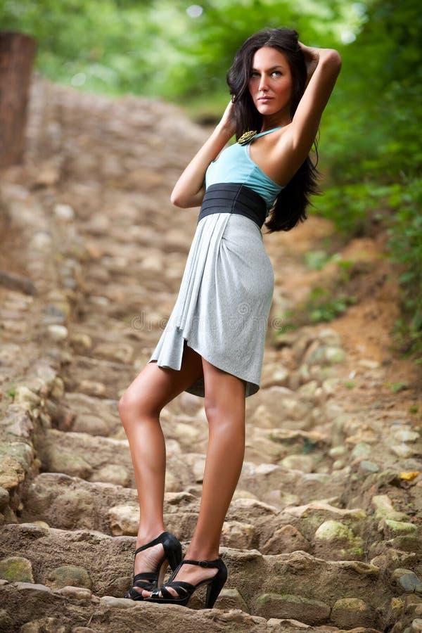Junge dünne Frau lizenzfreie stockfotos