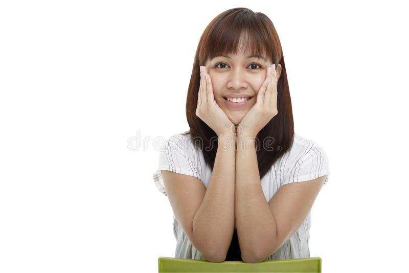 Junge Dame Lächeln stockfoto