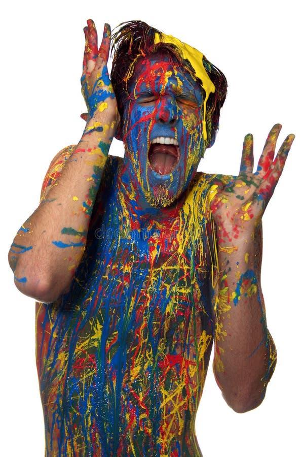 Junge in der Farbe lizenzfreie stockfotografie