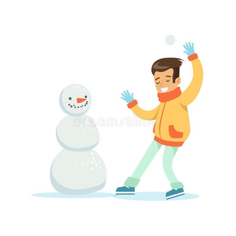 Männliche Schneebälle