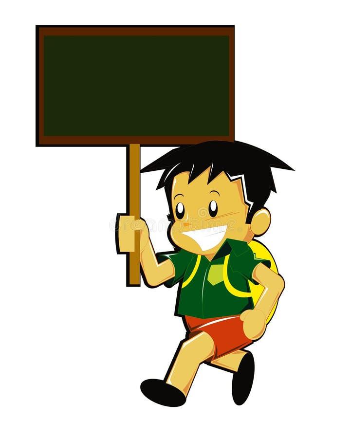 Junge, der zur Schule geht stock abbildung