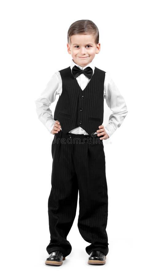 Junge in einer Klage lizenzfreies stockbild