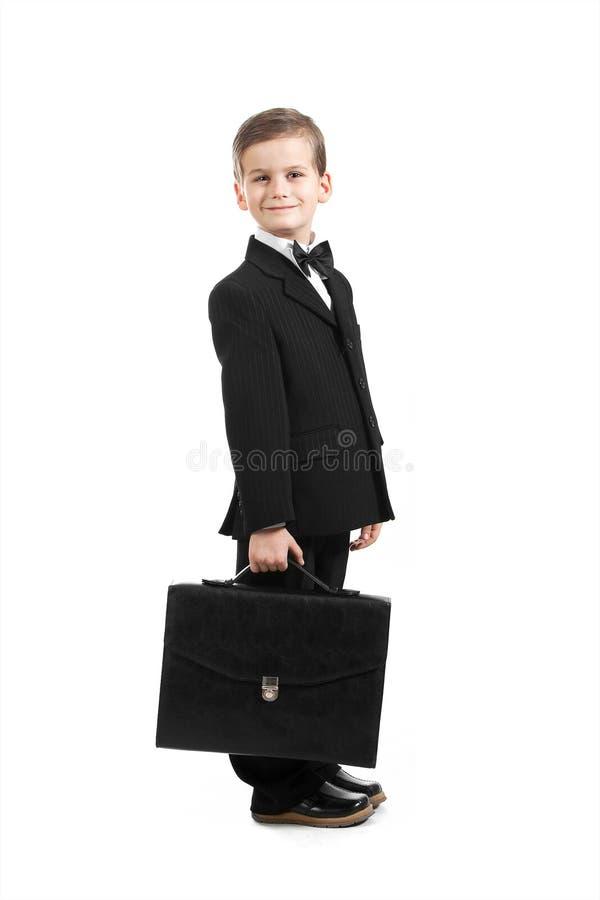 Junge in einer Klage stockfoto