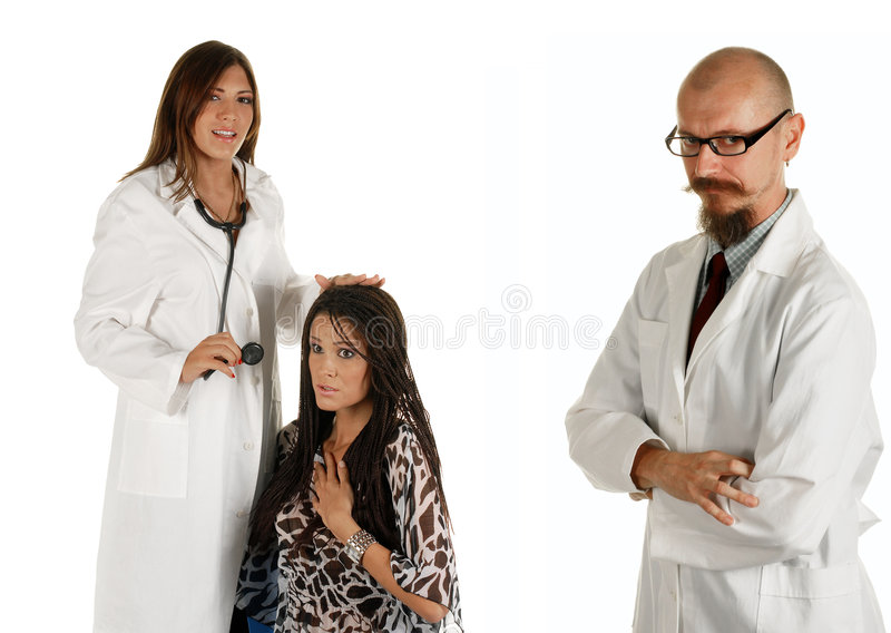 Junge erfahrene Doktoren stockfoto
