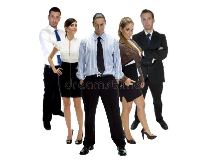 Junge erfolgreiche Geschäftsleute stockbild