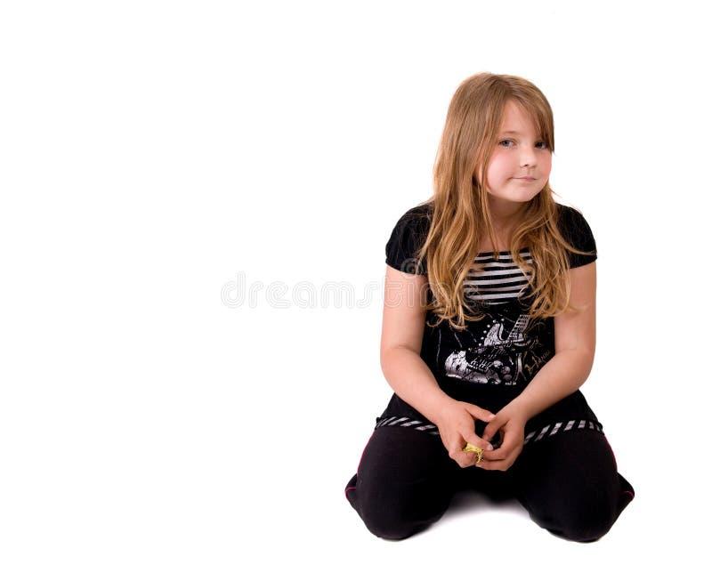 Junge ernste Frau stockfotografie