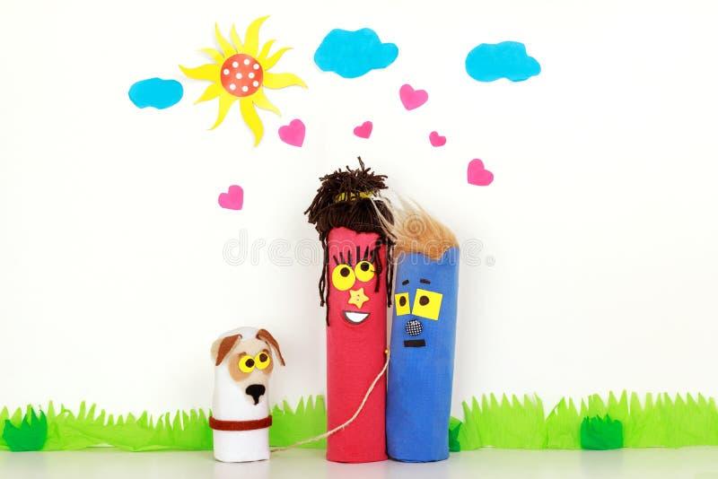Junge Familie in der Liebe lizenzfreies stockfoto