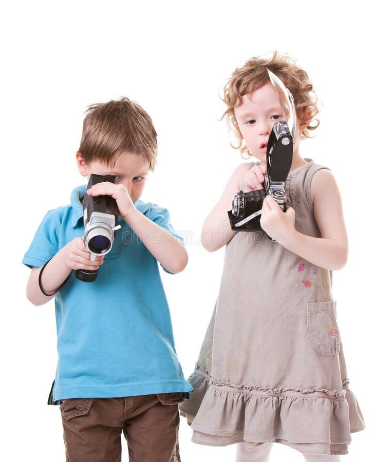 Junge Fotografen stockfotografie