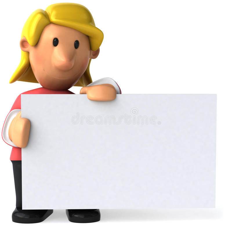 Junge Frau lizenzfreie abbildung