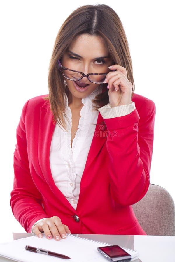 Junge Frau bei der Arbeit lizenzfreies stockfoto