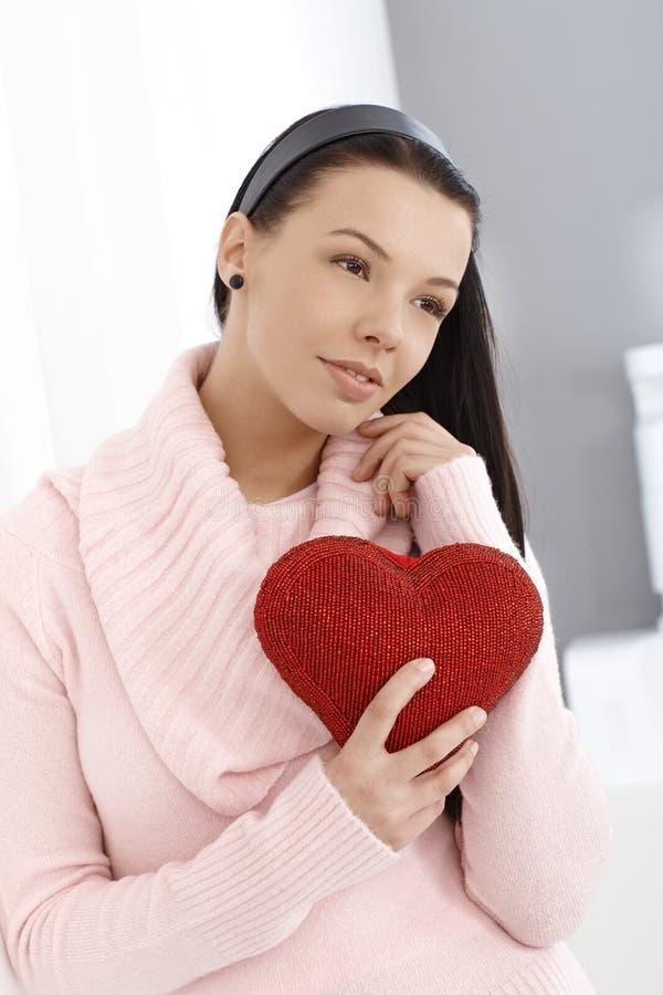 Junge Frau in der Liebe stockbilder