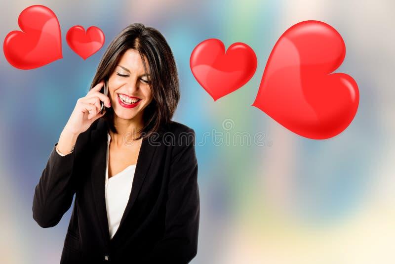 Junge Frau in der Liebe lizenzfreie stockfotografie