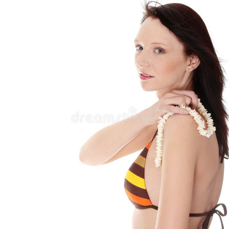 Junge Frau des Sommers stockfoto