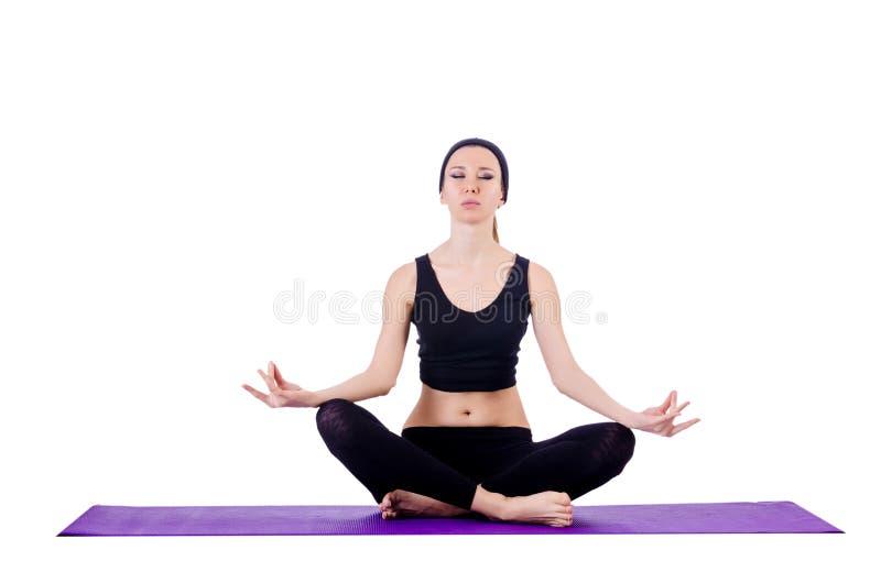 Junge Frau, Die Übungen Tut Lizenzfreies Stockfoto