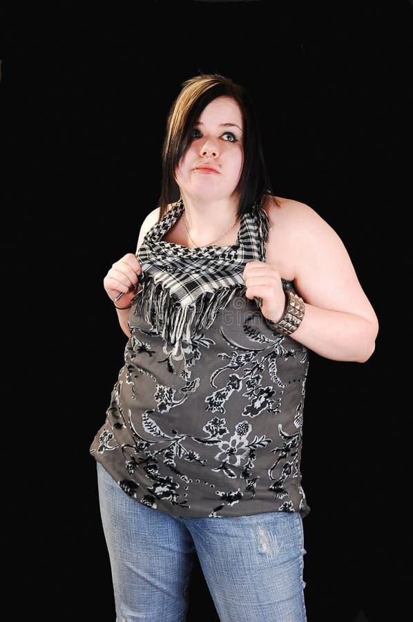 Junge Frau im Studio. lizenzfreies stockfoto